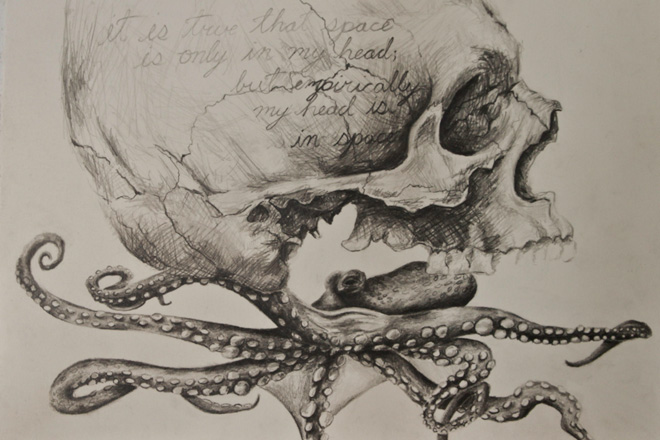 vintage inspired anatomical drawings with a twist by andy van dinh