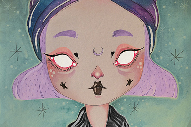The Creepy And Cute Pastel Goth Work Of LOll3 Bleaq