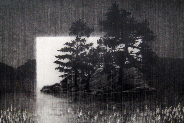 Easy Charcoal Landscape Drawings