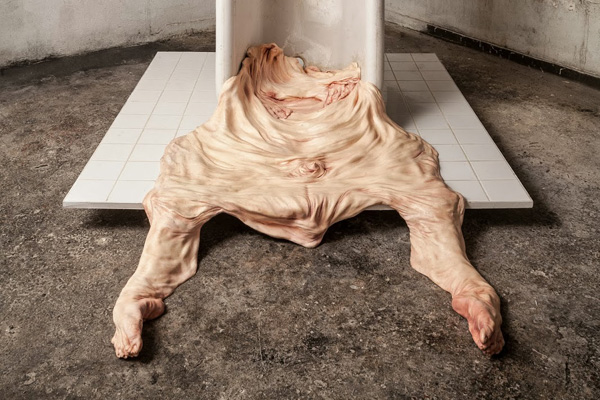 horrific melted skin sculptures by francesco albano bleaq